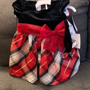 Red Bonnie baby dress